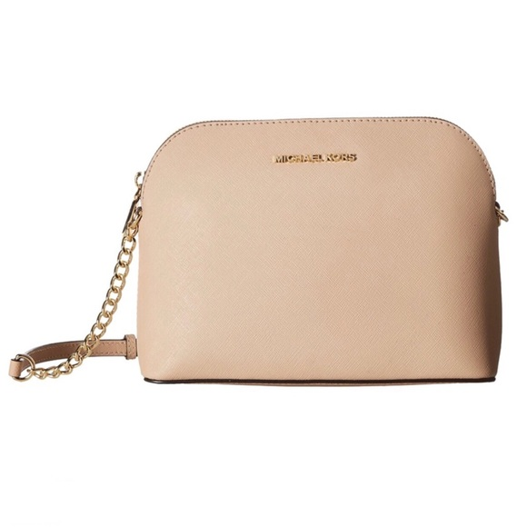 f3c47bf49778 MK Cindy Large Dome Crossbody (Oyster) Handbags